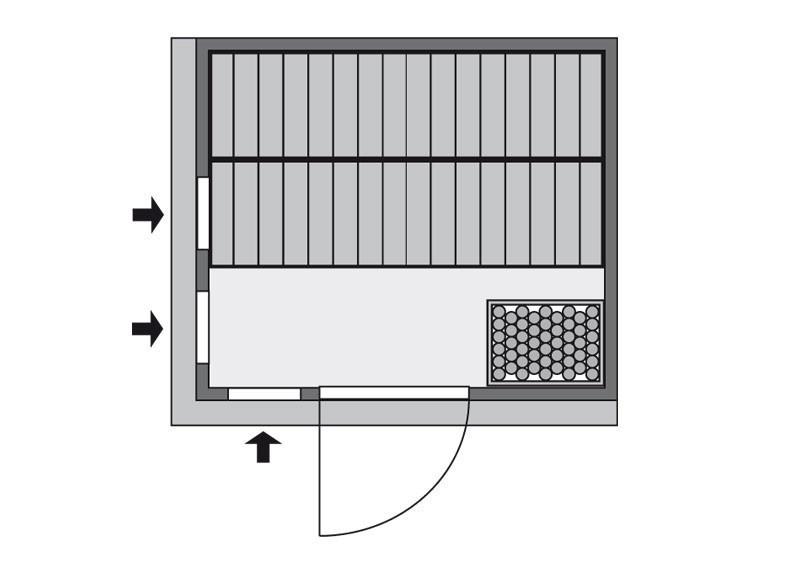 Karibu System Sauna Sodin Classic (Fronteinstieg) 68 mm inkl. Ofen 9 kW mit integr. Steuerung
