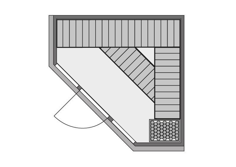 Karibu System Sauna Flora 2 Ganzglas (Fronteinstieg) 68 mm inkl. Ofen 9 KW ext. Steuerung