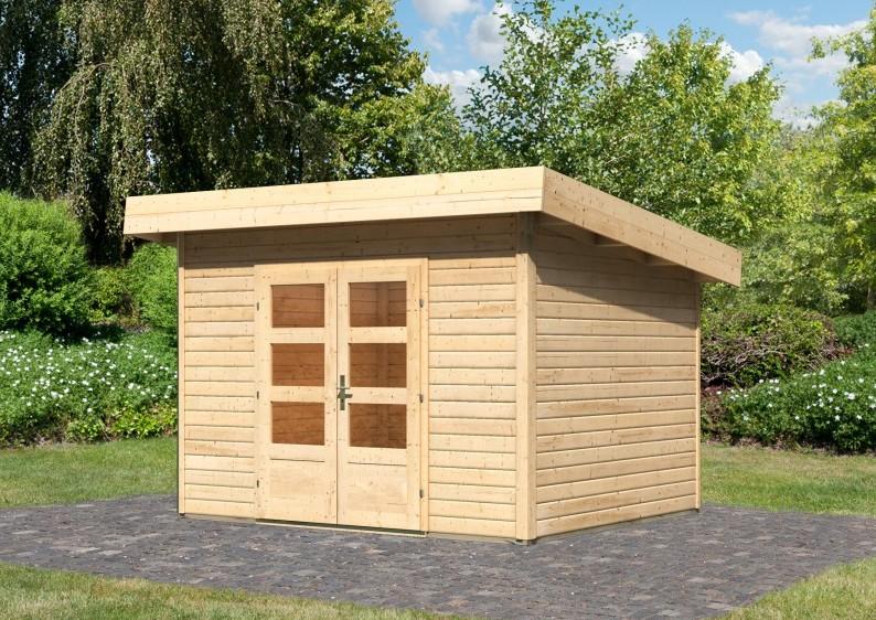 Woodfeeling Holz Gartenhaus Flachdach Northeim 2 40 Mm System