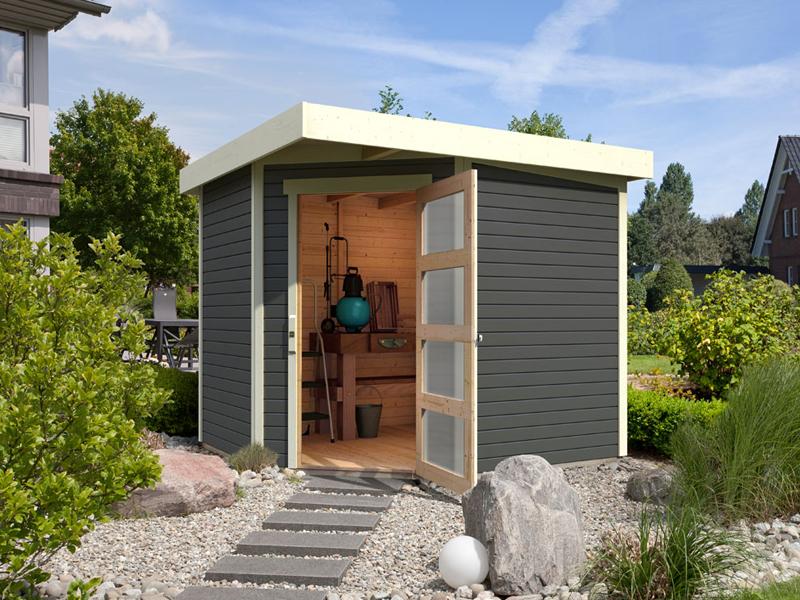 Sehr Karibu Woodfeeling Holz-Gartenhaus: Schwandorf 3 Pultdach 19 mm VF95