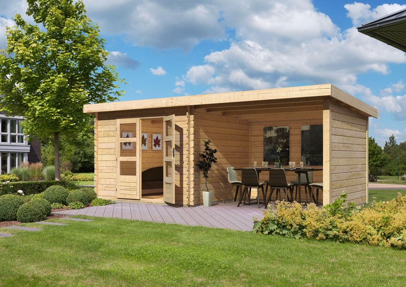 Häufig Woodfeeling Holz-Gartenhaus Pultdach Bastrup 4 - 28 mm - 3 m AJ97
