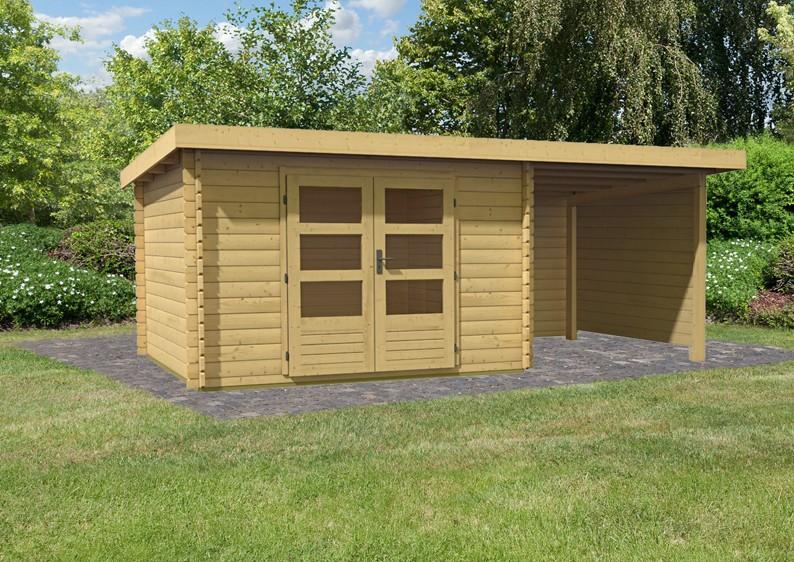 Karibu Woodfeeling Holz-Gartenhaus Pultdach Bastrup 5 - 28 ...
