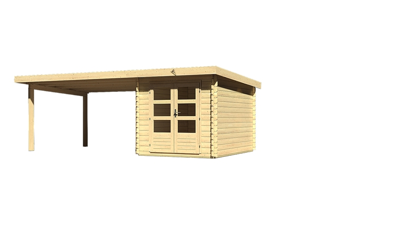 Sonderangebot: Woodfeeling Holz-Gartenhaus: Bastrup 4 im ...