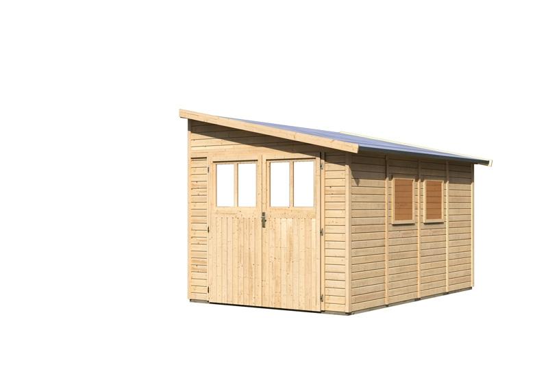 Karibu Holz Gartenhaus Bomlitz 4 Anlehnhaus 19 Mm Wandstärke