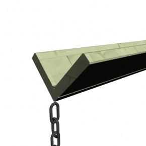 Karibu Holz Dachrinnen Set 1 inkl. Tropfkette und Verbindungsmaterial - kesseldruckimprägniert