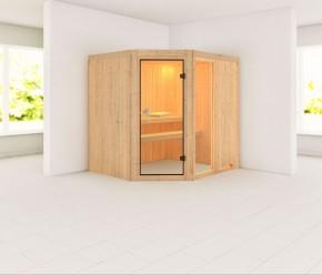 Karibu System Sauna Fiona 2 (Eckeinstieg) 68 mm