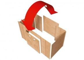 Karibu Geräteraum 1 mit Doppelflügeltür - für Einzel-Carports
