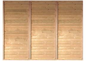 Karibu Rückwand Holz Einzelcarport (250 x 200cm)
