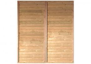 Karibu Seitenwand für Einzel- und Doppel-Carports (180 x 200cm)