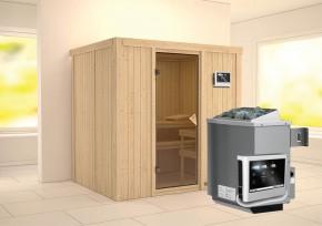Karibu System Sauna Bodin Classic (Fronteinstieg) 68 mm inkl. Ofen 9 KW ext. Steuerung