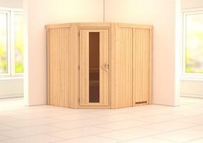 Karibu System Sauna Siirin Energiespartür (Eckeinstieg) 68 mm
