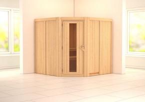 Karibu System Sauna Jarin Energiespartür (Eckeinstieg) 68 mm ohne Zubehör