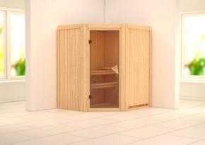 Karibu System Sauna 230 Volt Tonja (Eckeinstieg) 68 mm ohne Zubehör
